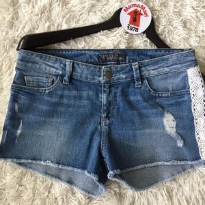 GUESS Blue Jean Cut Off Distressed Shorts